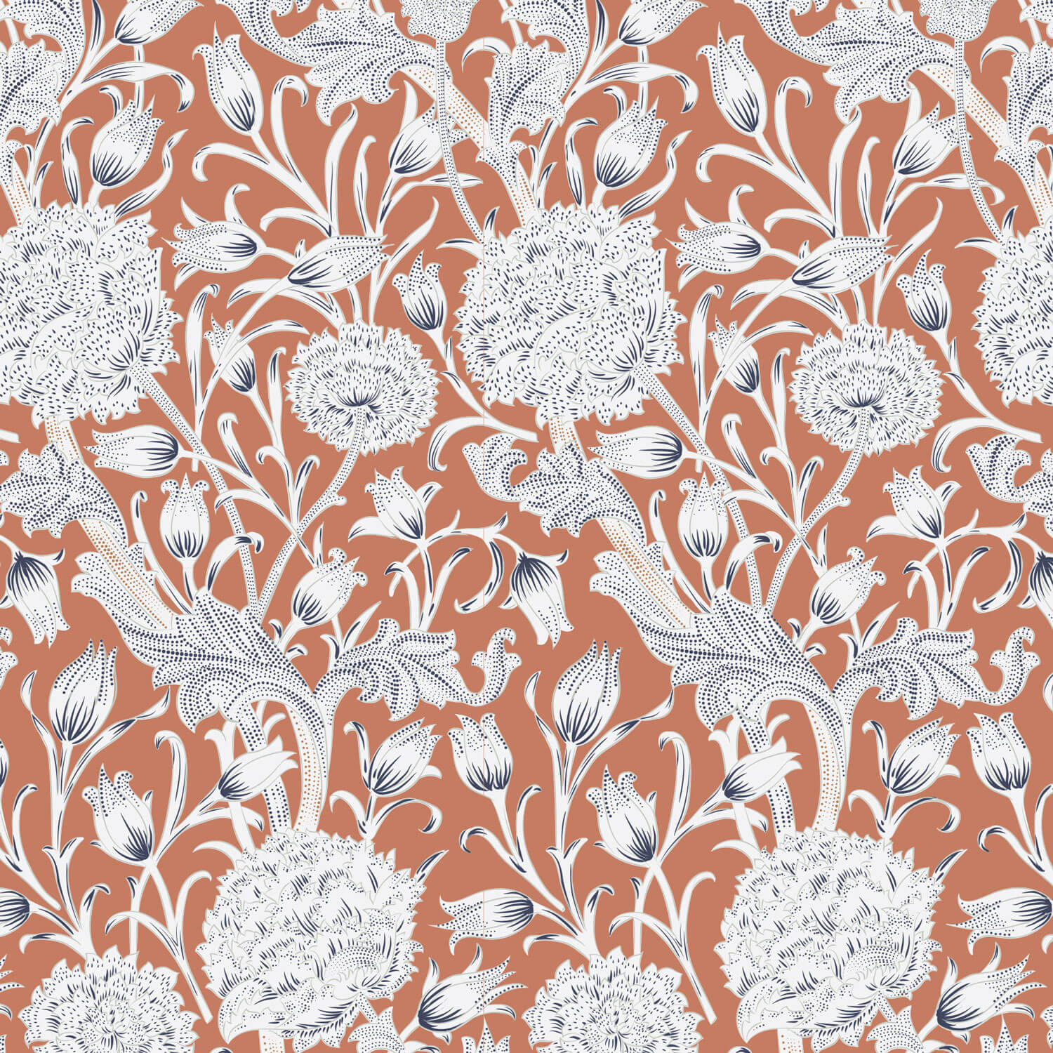 Vintage Floral Wallpaper Online India Design By Metamorph